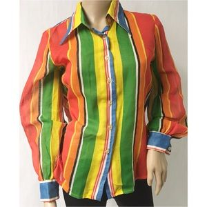 Multi Color Vintage Top Size Medium